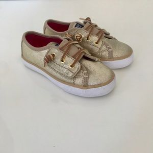Sperry Gold Velcro Sneaker NWOT